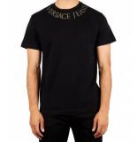Versace Jeans T-shirt studded neck - zwart