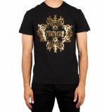 Versace Jeans Vjc gold print tee zwart/goud