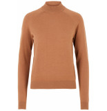 Pieces Pckalissa ls high neck knit noos 17093409 toasted coconut camel
