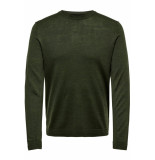 Only & Sons Onstyler 12 m crew neck knit noos 22014162 forest night groen