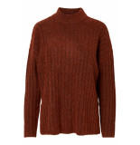 Pieces Pcnew sanni ls wool knit noos 17097450 picante oranje