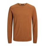Jack & Jones Jjehill knit crew neck noos 12157321 umber/twisted wi oranje
