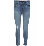 Noisy may Nmlucy nw skinny ank jeans az084lb 27009512 light blue denim blauw