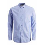 Jack & Jones Jprvictor shirt l/s noos 12158304 cashmere blue/slim fit blauw