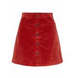 Noisy may Nmsunny short corduroy skirt noos 27008506 tandori spice rood