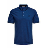 Only & Sons Onsstan ss fitted polo tee (6560) noos 22011349 baleine blue blauw