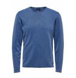 Only & Sons Onsgarson wash crew neck knit noos 22006806 baleine blue blauw