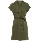 Noisy may Nmvera s/s endi tencel shirt dress 27005660 olive night groen
