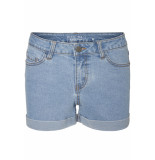 Noisy may Nmbe lucy nw den fold shorts gu818 27001243 light blue denim blauw