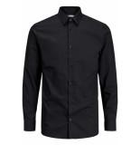 Jack & Jones Jprnon iron shirt l/s noos 12125792 black/slim fit zwart