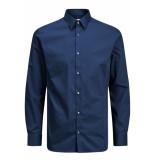 Jack & Jones Jprnon iron shirt l/s noos navy r/slim fit blauw