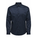 Only & Sons Onsalves ls 2-ply easy iron shirt noos 22009491 dress blues blauw