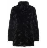 Vero Moda Vmcurl high neck faux fur jacket noos 10203269 black zwart