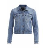 Object Objwin new her l/s denim jacket no 23026129 medium blue denim blauw