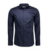 Jack & Jones Jjprparma shirt l/s noos 12097662 navy r blauw