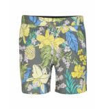 Seven Dials Short yellow flower design grey grijs