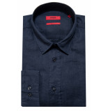 Hugo Straight fit overhemd met lange mouwen blauw