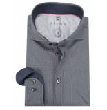 Desoto Slim fit overhemd met lange mouwen blauw