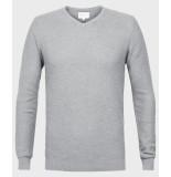 Michaelis Light grey pullover met structuur grijs