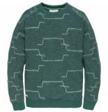 Cast Iron Csw196001 6431 r-neck slub fleece sea moss groen