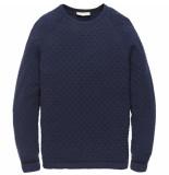 Cast Iron Ckw196408 5118 r-neck cotton structure dress blues blauw