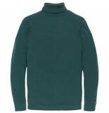 Cast Iron Ckw196404 6431 roll neck cotton uneven heather plated sea moss groen