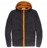 Cast Iron Ckc196442 9124 hooded jacket cotton mouline slub tap shoe grijs