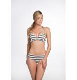 Bomain Halter bikini lurex stripe 22919-301 wit