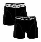 Muchachomalo Boys 2-pack short solid/solid zwart
