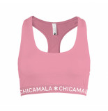 Muchachomalo Women racer back solid paars