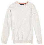 Superdry Orange label cotton crew grijs