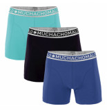 Muchachomalo Boys 3-pack short solid/solid/solid zwart