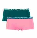 Muchachomalo Ladies 2-pack short solid/solid blauw