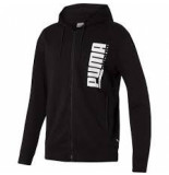 Puma Men hooded sweat jacket 580574-01 zwart