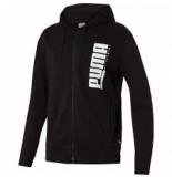 Puma Men hooded sweat jacket 580574-01 zwart