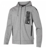 Puma Men hooded sweat jacket 580574-02 grijs