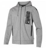 Puma Men hooded sweat jacket 580574-02 grijs