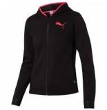 Puma Women hooded zip jacket 580590-01 zwart