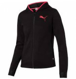 Puma Women hooded zip jacket 580590-01 zwart