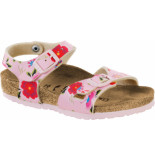 Birkenstock Rio china flowers pink narrow roze