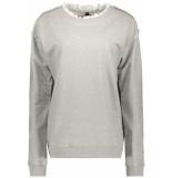 10 Days Sweater ruffles 20 818 8103 light grey melee grijs