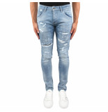 Federal Jeans Patch repair jeans blauw