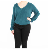 NA-KD Knitted sweater v-neck groen