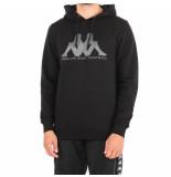 Kappa Kontroll hoodie et in leeve men zwart