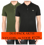 Lacoste Duo polo pack zwart
