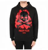 Philipp Plein Hoodie sweatshirt skull zwart