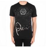 Philipp Plein T-shirt round neck ss skull zwart