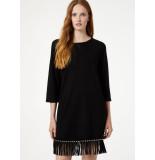 Liu Jo Jersey jurk met franje zwart
