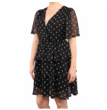 NA-KD Polka dot layered ruffled dress zwart