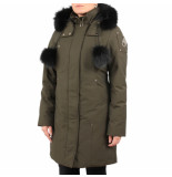 Moose Knuckles Stirling with fur groen